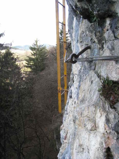 Blick zur Leiter