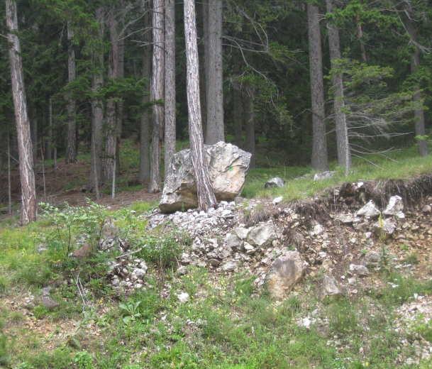 grüner Punkt an Block